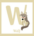 letter w vocabulary wolf