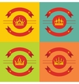 Logo crown icons on color background vector image vector image