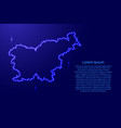 map slovenia from luminous blue star space points vector image vector image