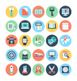Office Colored Icons 3 vector image vector image