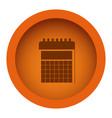 orange circular frame with silhouette calendar vector image vector image