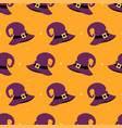 pattern with hat of witch vector image vector image