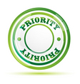 priority stamp vector image vector image