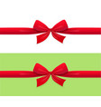 red bow and ribbon decoration vector image vector image