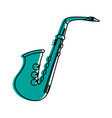 saxophone musical instrument icon image vector image vector image