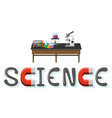 science camp logo with space objects in space vector image vector image
