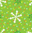 Seamless polka dots and spiral pattern vector image vector image