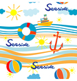 seaside pattern vector image vector image