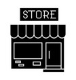 small shop icon black sign vector image