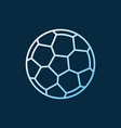 soccer ball linear colored icon football vector image