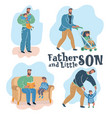son and father vector image vector image