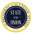 state of the union vector image vector image
