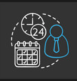 time management chalk concept icon vector image vector image