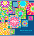 trendy background with decorative colorful tiles vector image vector image