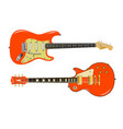 two guitar giants vector image