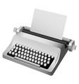 vintage typewriter mockup realistic style vector image vector image