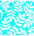 White plant leaves seamless pattern vector image