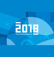 winter sports games in south korea 2018 blue vector image