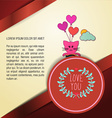 with love and cat vector image vector image