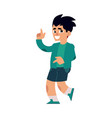 young teenager dances smiling vector image