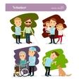 Young volunteer characters vector image