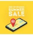 3d mobile digital marketing concept vector image