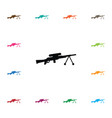 isolated gun icon sniper element can be vector image