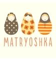 Three matryoshka dolls vector image
