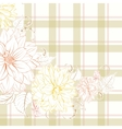 Excellent pattern with chrysanthemum vector image