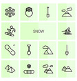 14 snow icons vector image vector image