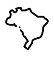 africa continent icon outline symbol
