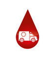 ambulance car isolated icon vector image vector image