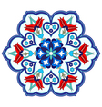Antique ottoman turkish pattern design four vector image vector image