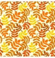 Autumn leaves plants seamless pattern vector image