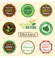 Badge Set of Certified Organic Natural farm fresh vector image vector image