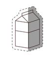 box carton milk juice cut line vector image