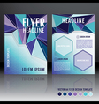 brochure flyer template design with geometric vector image vector image