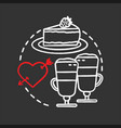 cafe chalk concept icon vector image vector image