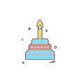 cake icon design vector image