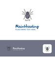 creative spider logo design flat color logo place vector image vector image