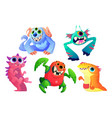 cute monsters set cartoon funny characters vector image