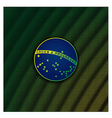 Digital background with blue disc of flag Brazil vector image vector image