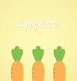 Easter carrot yellow background vector image vector image