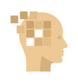 forget memory alzheimer icon flat style