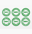 fresh ecological food sticker set vector image vector image