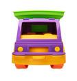 front view children plastic toy dump truck vector image