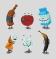 garbage and trash cartoon character spoiled food vector image