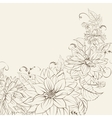Garland of chrysanthemum isolated vector image vector image