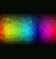 geometric dark color spectrum texture background vector image vector image
