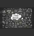 hand-drawn chalk clipart elements on sea ocean vector image vector image